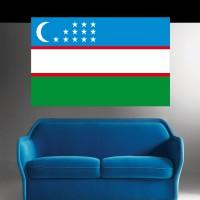 Stickers autocollant Drapeau Ouzbékistan