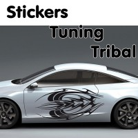 Planche de 2 Stickers Tuning Tribal 2