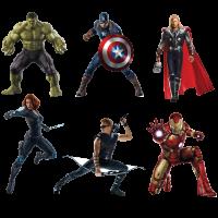 Stickers Autocollant Avengers en planche