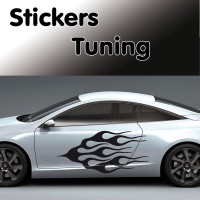 Stickers Tuning Flamme vendu par 2 stf3