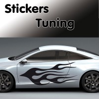 Stickers Tuning Flamme vendu par 2 stf1