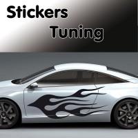 Stickers Tuning Flamme vendu par 2   stf1