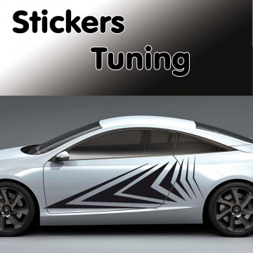 Stickers Tuning Flèche 1 vendu par 2