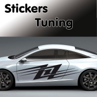 Planche de 2 Stickers Tuning 4