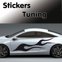 Stickers Tuning Flamme vendu par 2   stf2