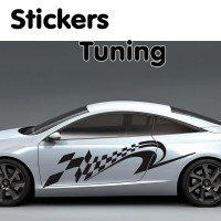 Stickers Tuning Damier STD6