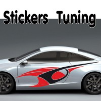 Stickers Tuning Tribal Color par 2 stt3