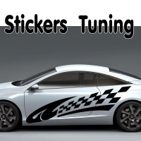 Stickers Tuning Damier – std4