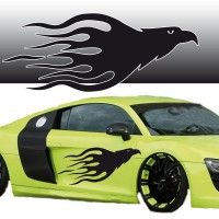 Stickers Tuning Aigle Flamme 3