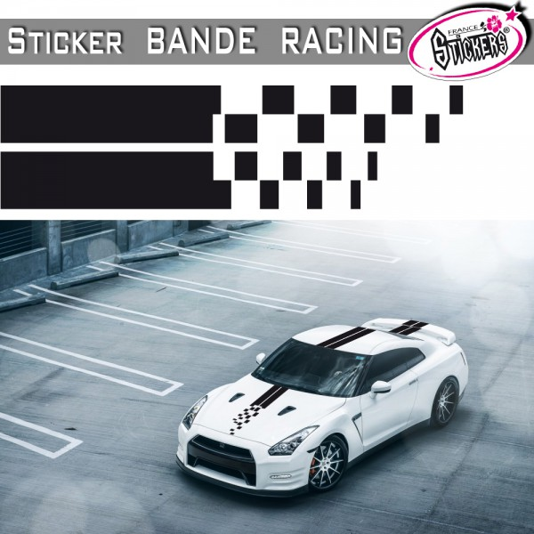 stickers bande voiture racing tuning. Black Bedroom Furniture Sets. Home Design Ideas