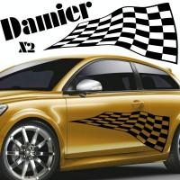 Planche de Deux Sticker Tuning Damier - 4