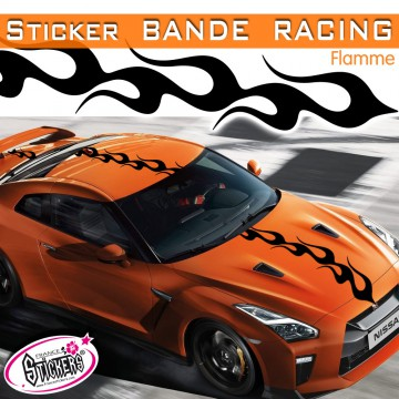 Stickers Voiture Bande Racing Flamme tuning