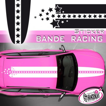 Stickers Voiture Bande Racing Étoile tuning