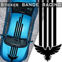 Stickers Bande Racing Voiture Aigle