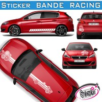 Stickers Bande Racing Voiture Rond