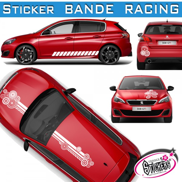 stickers bande racing voiture rond tuning. Black Bedroom Furniture Sets. Home Design Ideas