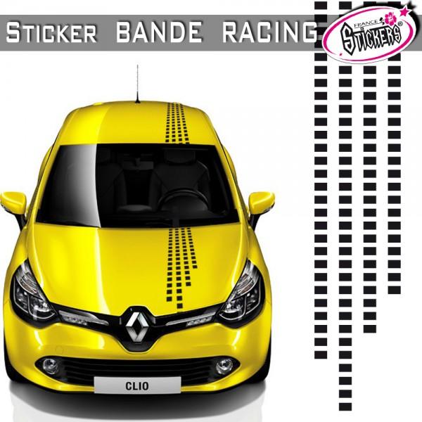 stickers bande racing voiture equalizer tuning. Black Bedroom Furniture Sets. Home Design Ideas