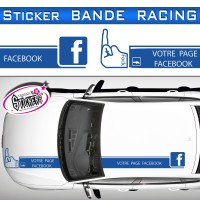 Stickers Bande Racing Voiture Facebook Fock