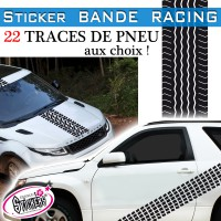 stickers trace de pneu bande racing voiture tuning