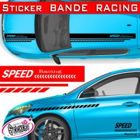 Stickers bande racing voiture TUNING SPEED Racing