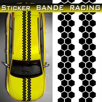 stickers bande racing voiture Alveoling TUNING