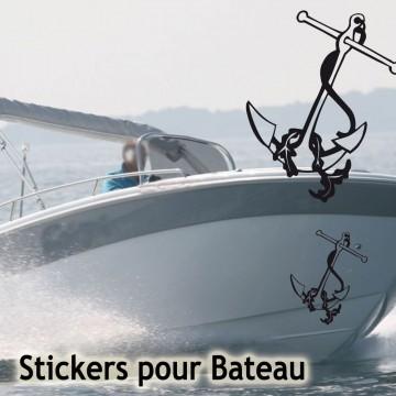 Stickers Adhésif Ancre de Bateau