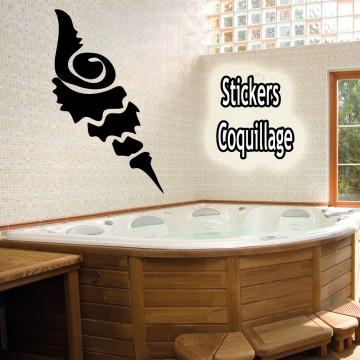 Stickers escargot de mer pas cher une d coration for Decoration escargot exterieur