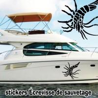 Stickers Autocollant coque Bateau Écrevisse 3