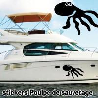 Stickers Autocollant coque Bateau Poulpe 5