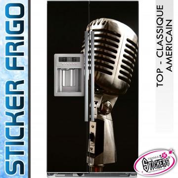 Stickers Frigo Micro Chanteur