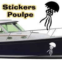 Stickers Autocollant coque Bateau Poulpe 7