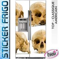 Stickers Frigo Tête de Mort Gothique
