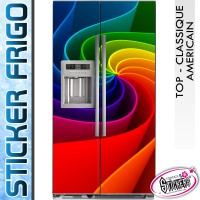 Stickers Frigo Couleur Spirale