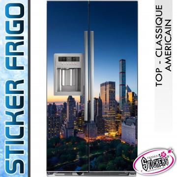Stickers Frigo New York Building Central Park de Nuit