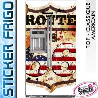 Stickers Frigo Route 66 USA