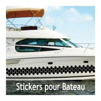 Stickers Autocollant coque Bateau Vague   2
