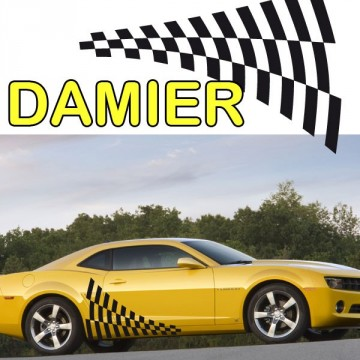 Stickers Tuning Damier std 7 vendu par 2