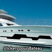 Stickers Autocollant coque Bateau Vague  3