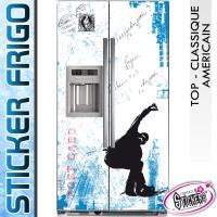 Stickers Frigo Surf Hiver Carte Postale