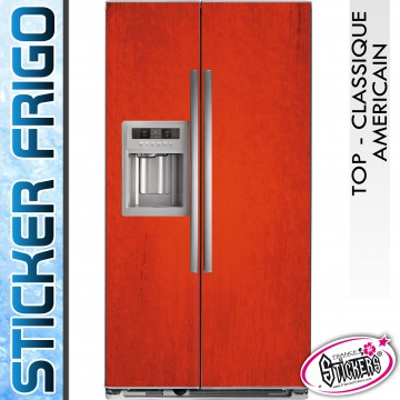 stickers frigo rouge vintage am ricain classique. Black Bedroom Furniture Sets. Home Design Ideas