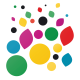 Stickers autocollant Rond de couleur 2