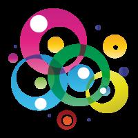 Stickers autocollant Rond de couleur 3