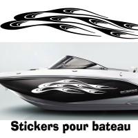 Adhesif Coque bateau vague 2