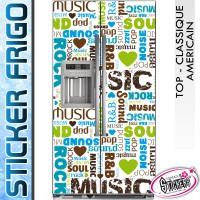 Stickers Frigo Musique R&B Soul POP Rock