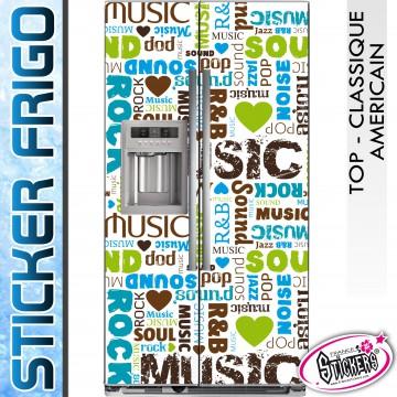 Stickers Frigo Musique R&B Soul POP Rock
