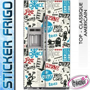 Stickers Frigo Musique West Coast Blues Jazz Swing