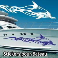 Adhesif Coque bateau Dauphin