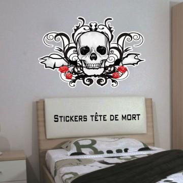 Stickers Autocollant Tete de Mort
