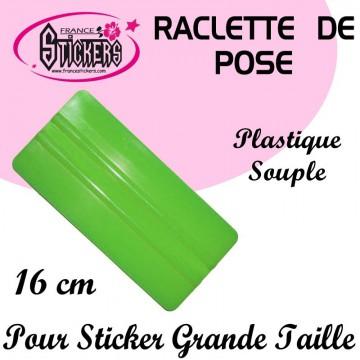 Raclette de pose verte pour Stickers et Autocollants