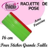 Raclette de pose Verte avec feutrine pour Stickers et Autocollants